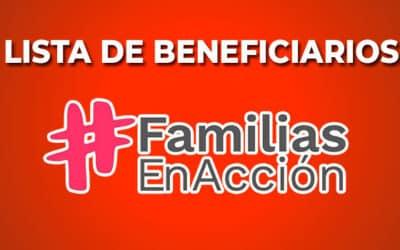 Lista de personas favorecidas en Familias en Acción
