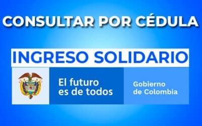 Ingreso Solidario consultar por cédula Julio 2021