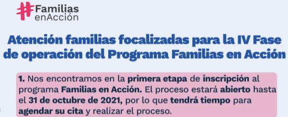 agendar cita de inscripcion familias en accion