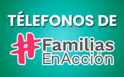 Número de Télefono Familias en Acción 2021